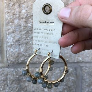 Anthropologie Romy Huggie Hoop Earrings - grey
